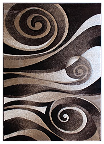 Modern Area Rug 5 Ft. 2 in. X 7 Ft. 3 in. Sculpture 258 Chocolate ()