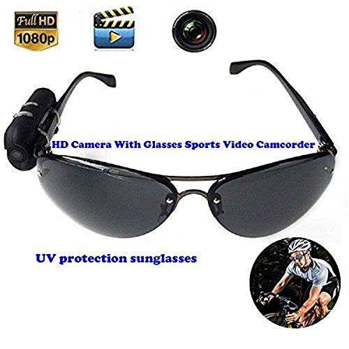 Price comparison product image HD Camera with Glasses Sports Video Camcorder Mini DV Wearable Vidicon On The Glasses Legs Video Recorder Athlete's Favorite companionUnlimited Unlimited Recording