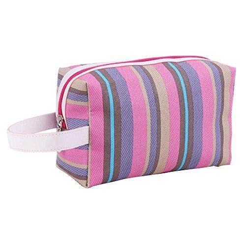 Brendacosmetic Waterproof Rainbow Handle Bag Cosmeic Bag Wash