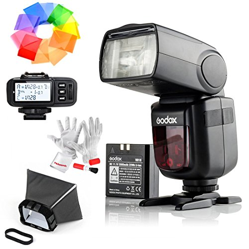 Godox Ving V860IIS 2.4G GN60 TTL HSS 1/8000s Li-on Battery Camera Flash Speedlite With X1T-S Flash Trigger for Sony – 1.5S Recycle Time 650 Full Power Pops Supports TTL/M/Multi/S1/S2