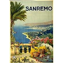 1920 Sanremo Travel Poster coastline of San Remo