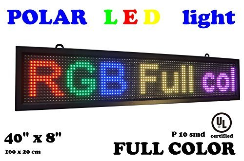Scrolling Led Sign - LED RGB color sign 40