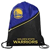 FOCO Golden State Warriors Official NBA High End Diagonal Zipper Drawstring Backpack Gym Bag