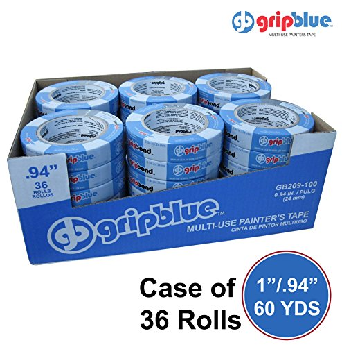 "Multi Box Large Use - Blue Painters Tape 0.94""/24mm X 60 YDs - Case of 36 Rolls 