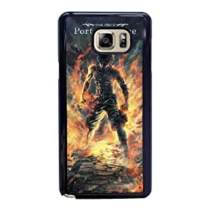 Custom made Case,One Piece Portgas D. Ace Cell Phone Case for Samsung Galaxy Note 5, Black Case With Screen Protector (Tempered Glass) Free S-7302434
