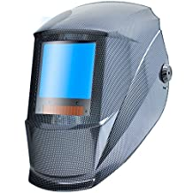 Antra AH7-X30P-001X Digital Controlled Solar Powered Auto Darkening Welding Helmet Wide Shade 4/5-8/9-13 With Grinding Feature Extra Lens CoversGreat for TIG, MIG, MMA, Plasma