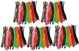 Set of 500 Colorful Striped Fuzzy Pipe Cleaners! Perfect for any Arts and Crafts! (500 Pipe Cleaners) 9'' Chenille Stems Perfect for Your Family's Decorative and Creative Needs!