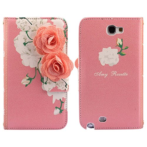 Sannysis(TM) 1PC Best Quality Flowers Flip Stand Wallet Leather Case Cover For Samsung iphone (Samsung Galaxy Note2 N7100)
