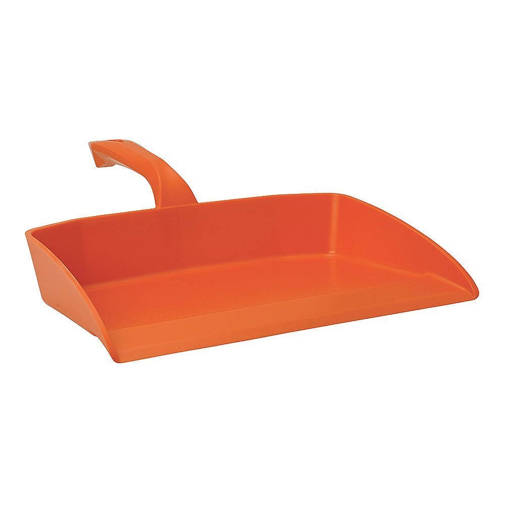 Quickie Professional Heavy-Duty Dustpan, Orange 6 pieces by Rubbermaid Commercial