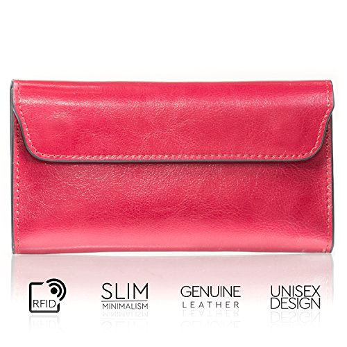 Women Wallet Brand Design Genuine Leather Red Color - 2