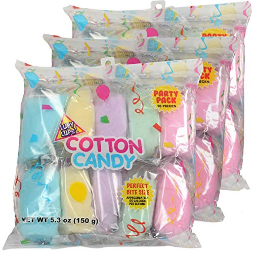 Cotton Candy Bags - Assorted Flavors 30 pack - Individual Package Big Bulk - Pastel Candy for Stocking, Treats, Party Favors, Buffet desk and Pinata