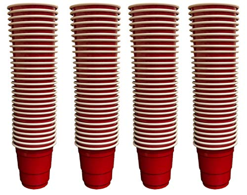 Plastic Shot Glasses - 250 Pack Mini 2oz Plastic Disposable Party Shot Glass for Birthday Party (Red)