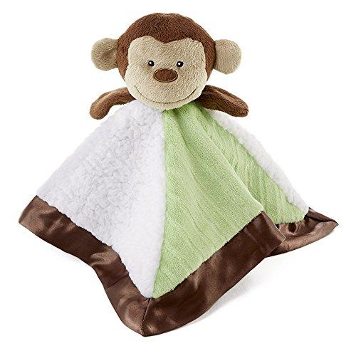 (Snoozies Cozy Little Lovies Plush Satin Baby Blanket - Monkey)