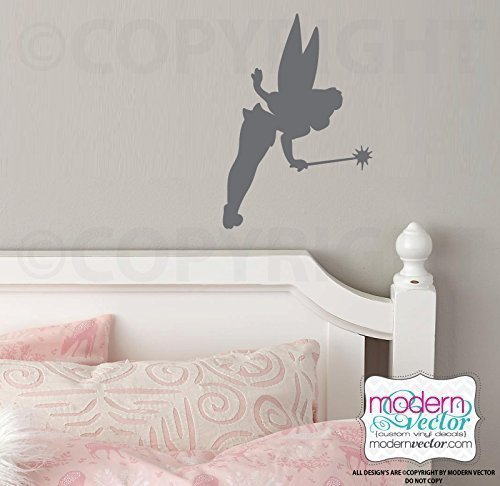 Tinkerbell Shadow Silhouette Vinyl Wall Decal