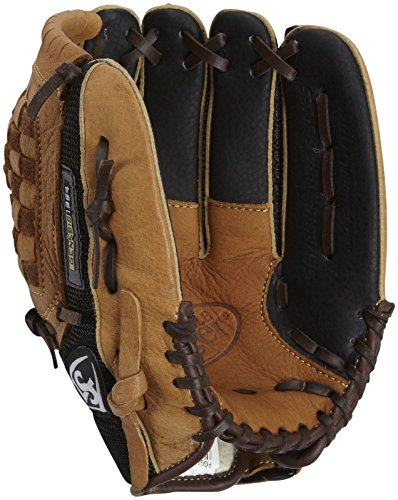 Louisville Slugger 11-Inch FG Genesis Baseball Infielders Gloves, Brown, Right Hand Throw - Infielders Glove
