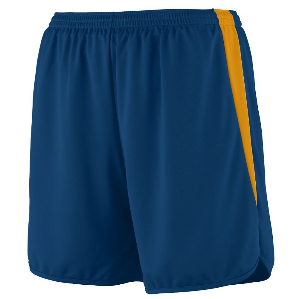 Augusta Sportswear Augusta Youth Rapidpace Track Short, Navy/Gold, Large by Augusta Sportswear