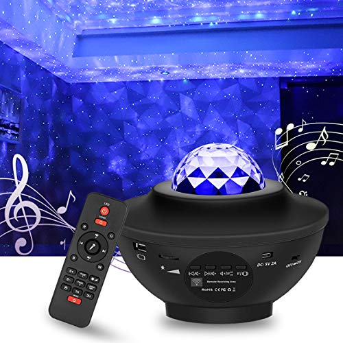 Star Light Galaxy Projector for Bedroom | Bluetooth Speaker, Adjustable Brightness, 10 Color Options, Timer Modes | Starry Space Nebula Clouds, Night Sky for Adults & Kids Stargazing Atmosphere