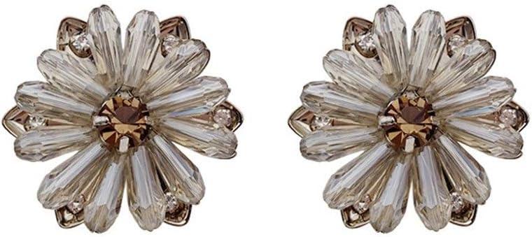 NOBRAND Pura Plata 925 de la Aguja Original, Alto Sentido de Cristal Rojizo Pendientes Flor de Hadas Pendientes luz Pendientes Moda Distinguido