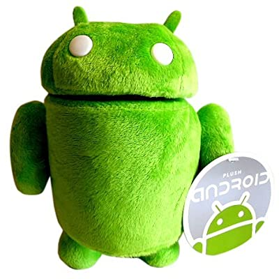 "Official Google Android Robot Mini Mascot Soft Green 9"" Robot Poseable Collectible Plush Toy: Toys & Games [5Bkhe0506328]"