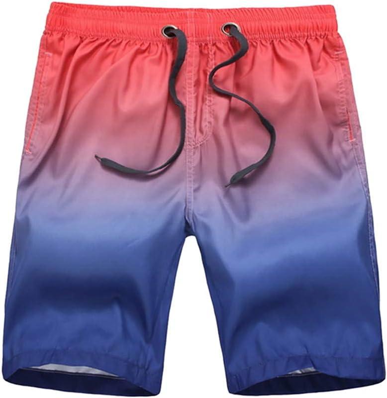 YKARITIANNA Mens Gradation Color Splice Beach Work Casual Men Short Trouser Shorts Pants