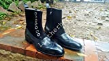 Handmade Men's dress Boots buttoned leather boots Custom men boots
