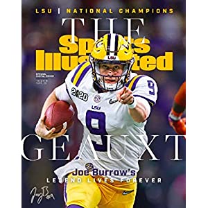 Joe Burrow Reprint Signed 11×14 Sports Illustrated Cover LSU Tigers Poster Print Photo Geauxt