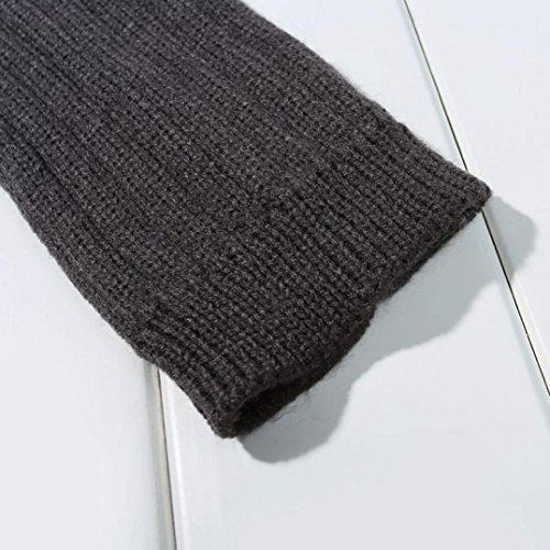 Gray Winter Trim Socks Newest Stockings Egmy Pair Knitted Stocking Bowknot Women 1 Leg Winter Women's Dark ZSFxn4n
