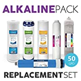 Chromium 6 Water Filter Alkaline System Full Replacement Filter Set 6 Total Filters With 50 GPD Membrane