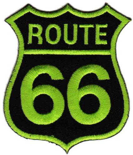 Diseño de Ruta 66 colour verde parche de HotFix de conexión de aplicación Bestellmich