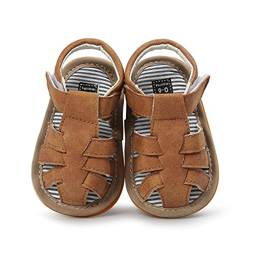 Baby Leather Moccasins, Infant Baby Boys Girls PU Leather Rubber Sole Summer Sandals First Walkers by Neband