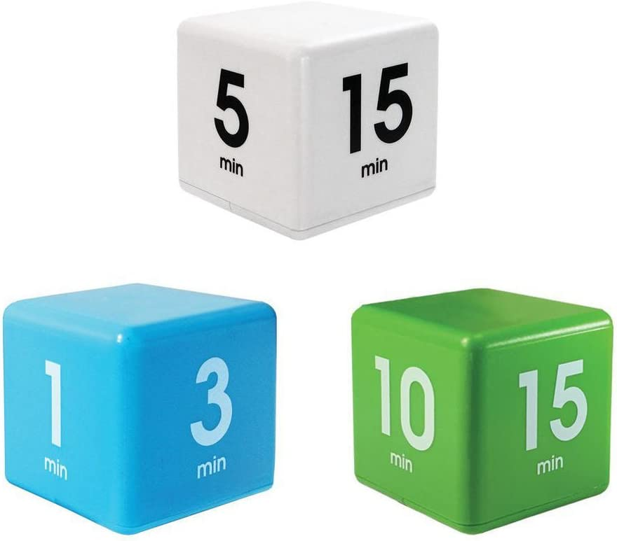 1PCs Prison Term Fourth Dimension Sentence Square Block Meter Regular Hexahedron Clip Third Miracle Cube Timer Minute Management Kid Workout Time Digital Clock Dice