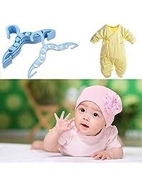 YTCYKJ 40 x Kids Baby Plastic Coat Clothes Garment Trousers Hangers Blue Durable