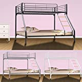 Dirty Pro Tools Brand Triple Sleeper Bunk Bed Metal Single Double Triple 3 Children's Bunk Bed (Black)