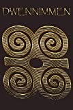 DWENNIMMEN: Ram's Horns Gold Adinkra Blackberry Softcover Note Book Diary | Lined Writing Journal Notebook | 100 Cream Pages | Ghanaian Asante Humility & Strength | Ghana Africa African Symbols