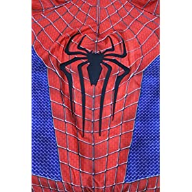 - 51ipzqIsU2L - OEM Spider Man Costume Screen Accurate Dye Sublimation Spiderman Faceshell Lens