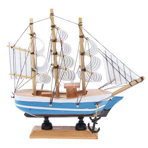 F Fityle 船模型 帆船 模型 手作り インテリア 装飾 木製模型 模型 約15cm