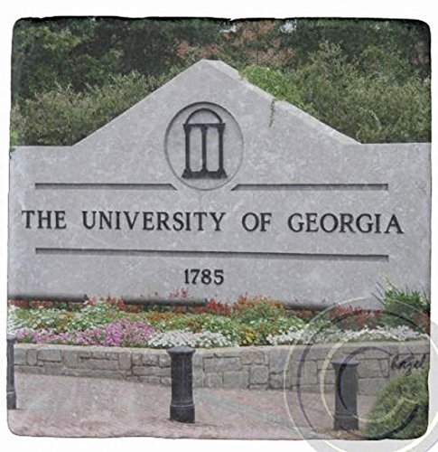 UGA 1785, Athens, Georgia, UGA. Marble Stone Coaster. Mix and Match To Make A Set.