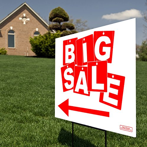 Retail Store - BIG Sale Sign Directional Arrow Sign for C...
