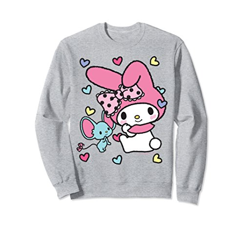 Unisex My Melody Sweet Hearts Sweatshirt Small Heather Grey