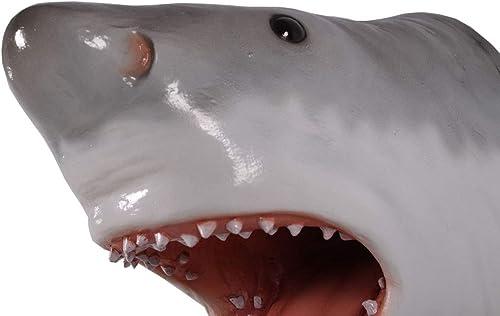 Great White Shark Head Trophy Wall Sculpture Decor