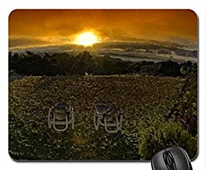 fantastic view of the glory of nature Mouse Pad, Mousepad (Sunsets Mouse Pad, Watercolor style)