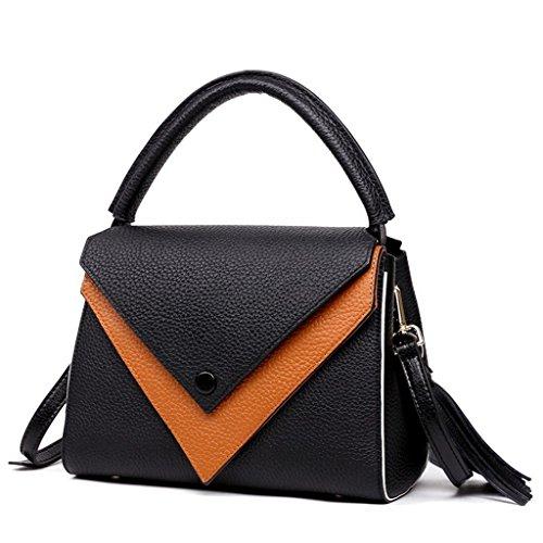 Mano bolsos Ideal trabajo Genuino Capacidad Mujer hombro Hecho para y a Gran Sucastle RFID 5 Genuina viaje Cuero 4 Bloqueo de w56O5xCq