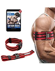 """BFR Bands PRO X Blood Flow Restriction Bands - Set of 2 Occlusion Training Straps w/ Pinch-Free Buckle - Arms & Legs Workout for Men and Women, 2"""" Wide"""