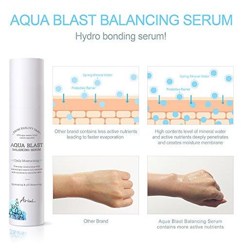 Ariul Aqua Blast Balancing Serum 1.69 fl. oz. Natural Moisturizing Serum to Balance Skin Temp, Reduce Wrinkle, Calm & Soothe, Hyaluronic Acid (Sodium Hyaluronate), Betaine, Niacinamide, Adenosine
