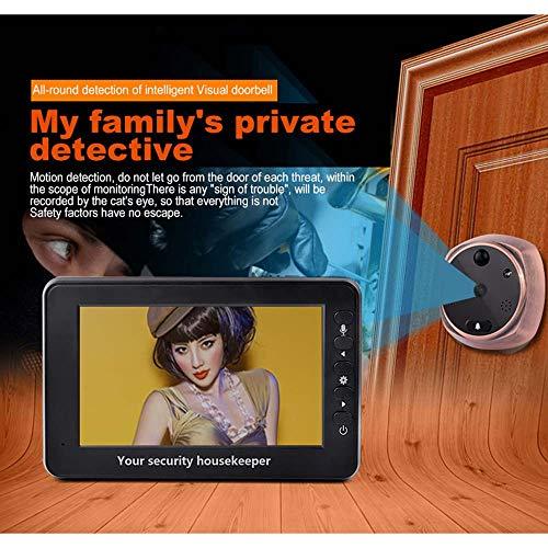 Love of Life 4.3'' TFT LCD Screen Digital Intercom Peephole Door Viewer Camera PIR Motion Detection Doorbell 160 Degree Wide Angle IR Night Vision Door Viewer Security Camera by Love of Life (Image #1)