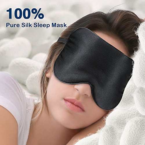 Eye Mask for Sleeping PaiTree Natural Silk Sleep Mask & Blindfold , Professionally-Made , Super-Smooth & Skin-Friendly Eye Shade Eye Cover for Sleeping For Woman & Man - - Mask Eye Cover