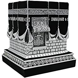 Islamic Home Table Decor Kaba Replica Model Showpiece Silver Black 1961
