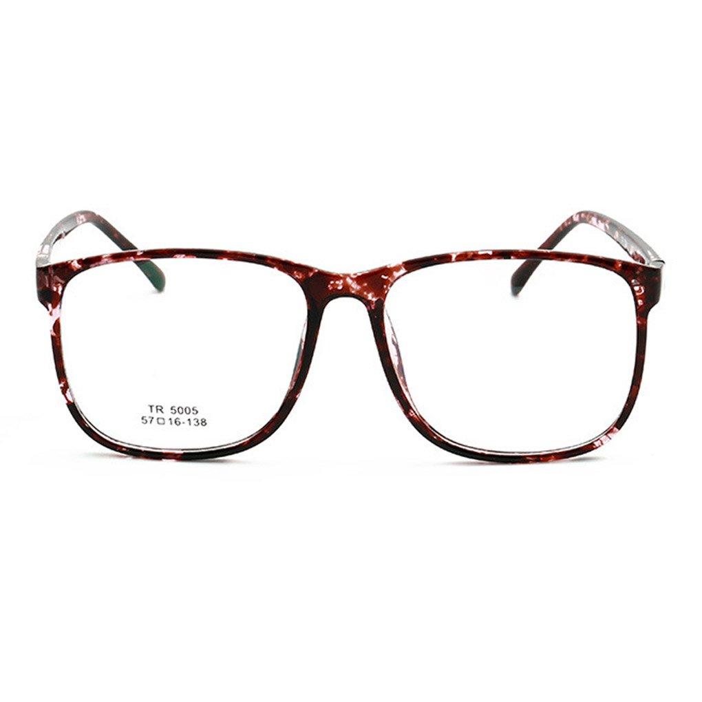 TFgirl Damen Herren Brillen Rahmen Luxuxweinlese TR Material Glas ...