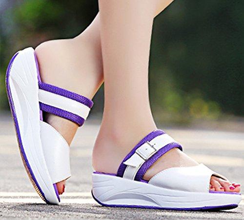 de Morado transpirable para con Solshine tejido de deporte mujer Zapatillas descubiertas sandalia red tipo CB8OHqw5