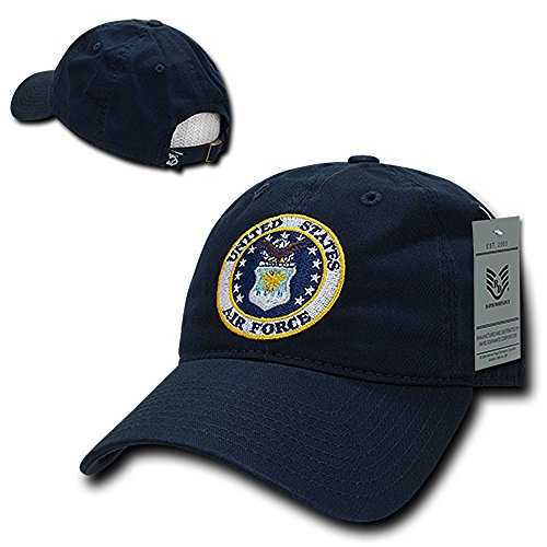 us-air-force-embroidered-low-profile-soft-cotton-baseball-cap-navy
